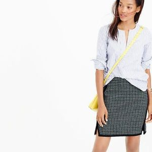 Double-notch mini skirt in houndstooth 00